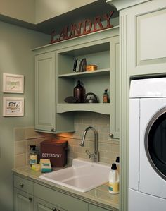 Laundry Room Sage Green Chairs Design, Pictures, Remodel, Decor and Ideas - page 2