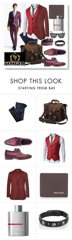 """""""Tucci Polo 50"""" by ane-twist ❤ liked on Polyvore featuring Topman, TheLees, Proenza Schouler, Boglioli, Diesel, Prada, women's clothing, women's fashion, women and female"""