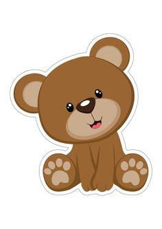 Teddy Bear Party, Teddy Bear Baby Shower, Baby Boy Shower, Dibujos Baby Shower, Imprimibles Baby Shower, Teddy Bear Outline, Moldes Para Baby Shower, Scrapbook Bebe, Bear Bows
