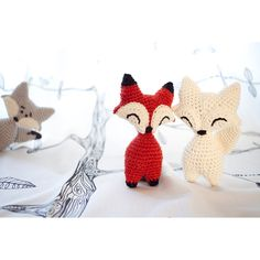 Little Fox or Wolf amigurumi crochet PDF pattern by FuglyCrochet