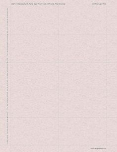 Granite Rose Business Cards, 2x3.5, 250/PK, 8 Pks/Case