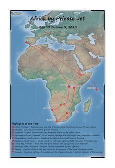 Barbara was lucky enough to tour Africa by Private Jet. This Passport Map hangs in her living room, showing everyone the details of her magical adventure. Travel Tours, Travel Maps, Anniversary Present, Custom Map, Private Jet, Travel Memories, Tour Guide, Passport, Wedding Gifts