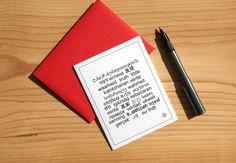 Truth Card  Greeting Card  Invitation  Thank You Card by Sabastica