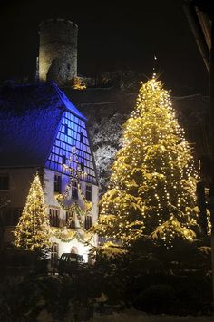 Christmas in Alsace, in the valley of Kaysersberg France