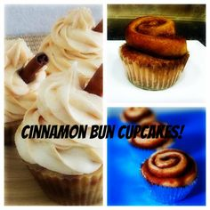 Cinnamon Bun Cupcakes with Cream Cheese Frosting!
