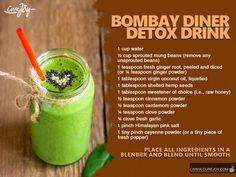 #1. Cucumber Lemon Detox Spa Water #2. Supercharged Barley Grass Detox: 3. Easy Liver Detoxifier: 4. Strawberry Infused Vitamin Detox: 5. Peppermint Grapefruit Detox Water: 6. Bombay Diner Detox Drink: