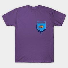 Pocket Fish - Mens T-Shirt