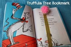 obSEUSSed: Dr. Seuss elastic Bookmark #Truffula Tree #KidCraft