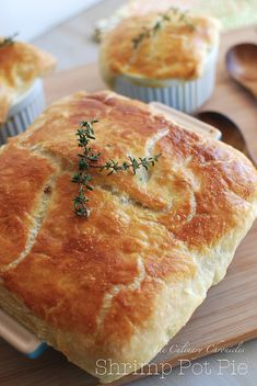 Shrimp Pot Pie _ Luscious, decadent shrimp filling topped with a flaky puff pastry crust!
