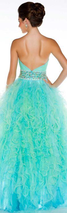 Mac Duggal couture 2013 ~  beautiful color...