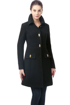 BGSD Women's 'Taylor' Wool Blend Turn Key Coat ** This is an Amazon Affiliate link. Want additional info? Click on the image.