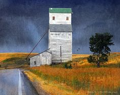Pillsbury Grain Elevator Ashton Wood Print by R christopher Vest Visit Yellowstone, Yellowstone National Park, National Parks, Canadian History, Special Pictures, Country Life, Country Living, Minimalist Architecture, Western Art
