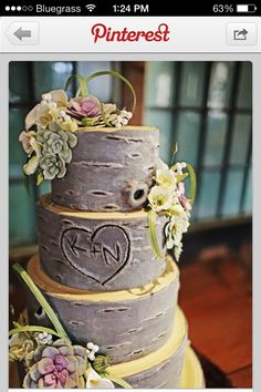 My husband is a logger. This will be our wedding cake. So cute!