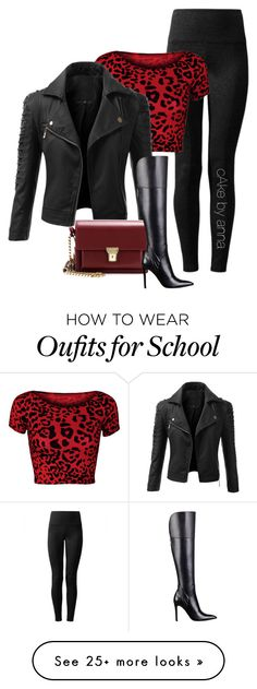"""""""cake by anna"""" by mzchunkylover310 on Polyvore featuring Lyssé Leggings, WearAll, Doublju, Yves Saint Laurent and GUESS"""