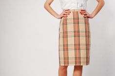 Vintage 1960s Skirt  60s Pencil Skirt  Preppy by concettascloset, $44.00