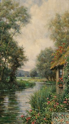 Cottage by the River, Launay - Louis Aston Knight (1873-1948)