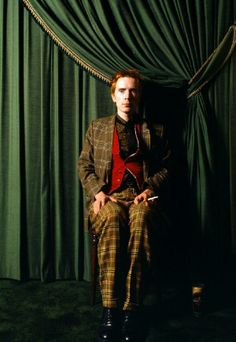 John Lydon from the Sex Pistols and Public Image Limited in tartan