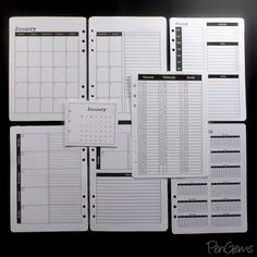 PenGems Planner Printables - Simple Theme - A5