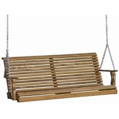 LuxCraft Rollback Pressure Treated Adult Porch Swing $430