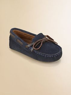Cole Haan - Infant's Suede Moccasin Drivers - #littlestyleeaster