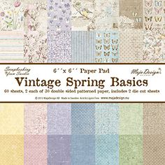 Maja Design Vintage Spring Basics 6 x 6 Paper Stack *** Learn more by visiting the image link.Note:It is affiliate link to Amazon. #90likes