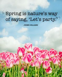 """""""Spring is nature's way of saying, 'Let's party.'"""""""