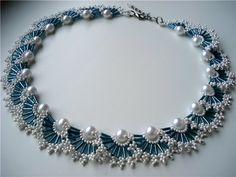 Ожерелье Морская пена | biser.info - всё о бисере и бисерном творчестве