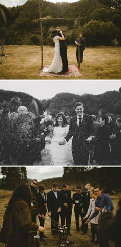 This is EXACTLY what I want when we get married. Small, close friends and family only at the wedding, in a field somewhere with an archway. Then throw down with everyone else at the reception!!!!
