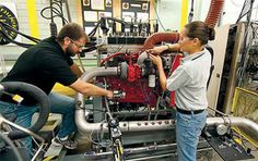The new Hoosier Heavy Hybrid Center of Excellence is funded with a $1 million grant from the U.S. Department of Energy's Graduate Automotive Technology Education initiative. (Purdue University photo/Mark Simons)