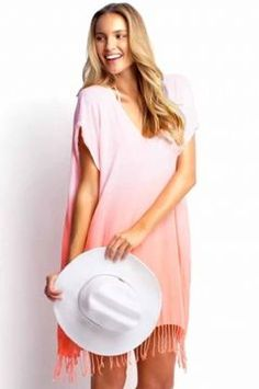 Seafolly Fluro Coral Byron Kaftan   More maternity here: http://mylusciouslife.com/historical-maternity-fashion-style-across-the-ages/