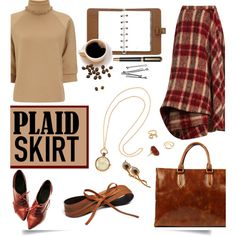Plaid Skirt by serepunky on Polyvore featuring J.W. Anderson, Brock Collection, H&M, Alice Joseph Vintage, Vintage, Madewell, Nine to Five, Mulberry, BOBBY and vintage