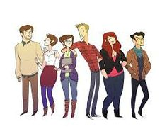 I can finally show you some of the excellent bonus art that Noelle Stevenson – Gingerhaze – did for the UK edition of Fangirl! It's a cast portrait: Art (Cath's dad), Wren, Cath, Levi, Reagan (Reagan!) and Nick. The UK paperback also has an. Fangirl Book, Book Fandoms, Book Nerd, Eleanor Und Park, Good Books, My Books, Character Inspiration, Character Design, Strong Female Characters