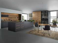 European Kitchen Cabinets, European Kitchens, Black Kitchen Cabinets, Home Kitchens, Kitchen Room Design, Modern Kitchen Design, Interior Design Kitchen, Kitchen Decor, Kitchen Designs Photos