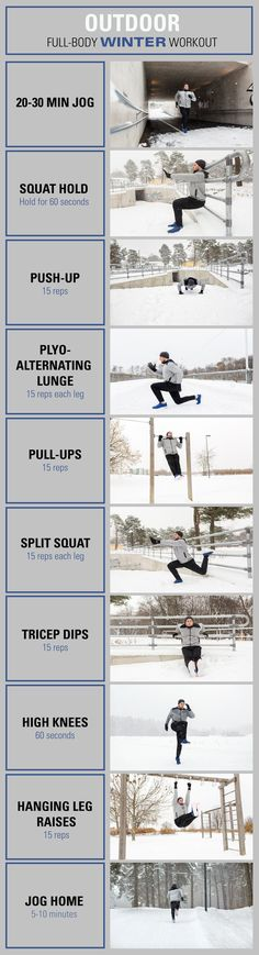 Don't let winter get in the way of your fitness. Try this outdoor full-body winter workout.