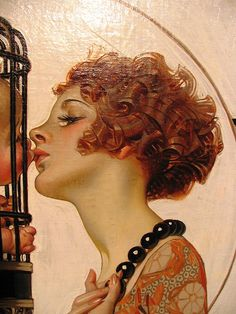 "Closeup Illustration by J. Leyendecker [detail onde anni ), ""Kissing Cupid,"" Cover illustration for ""The Saturday Evening Post Art Et Illustration, Illustrations, Painting Inspiration, Art Inspo, Jc Leyendecker, Wow Art, Classical Art, Pretty Art, Traditional Art"