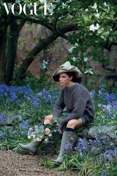 Victoria Beckham unleashes her inner gardener for Vogue USA