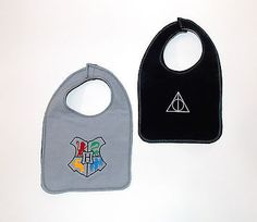 Harry Potter Hogwarts Crest Baby Bib - Reversible Flannel