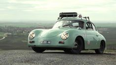 For Father's Day, a love story between Father, Son and Porsche. This Dapper Porsche 356 Is My New Favorite Car Restoration Story cars, cars and more cars. Porsche Autos, Porsche Sports Car, Porsche Cars, Porsche Classic, Classic Cars, Vintage Porsche, Vintage Cars, Porsche Sportwagen, Porsche 356 Outlaw