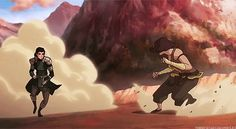 Korra vs Kuvira. I was impressed with this particular move from Kuvira.