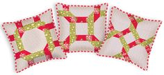Happy Holidays with FreeSpirit & Rowan: Woven Braid Patchwork Pillow in Pirouette | Sew4Home