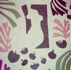 walls of Matisse's studio at the Hôtel Régina, Nice. #matisse #cutouts