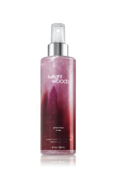Bath and Body Works Twilight Woods body spray.  My fave.  (Not the perfume or any of the soaps, just the body spray. I only use body spray.)