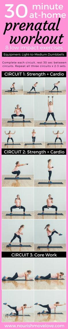 Low impact strength and cardio workout for beginners, pregnancy, post partum, naptime, and those recovering from injury. A 30 minute total body workout challenge using dumbbells, perfect for at-home workout. Squat, lunge, press, punch, row, bicep, plank. Upper body, lower body, and core workout.