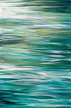 New 2015 original abstract painting by Jessica Torrant titled Lost At Sea. Acrylic on 24 x 36 gallery wrapped canvas. I used gold metallic paint