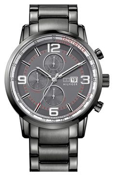 Tommy Hilfiger Round Multifunction Bracelet Watch, 44mm available at #Nordstrom