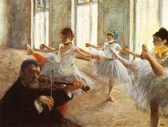 Rehearsal painted by Edgar Degas in 1879