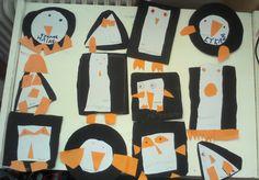 Χαρούμενες φατσούλες στο νηπιαγωγείο: ΠΙΓΚΟΥΙΝΟΕΒΔΟΜΑΔΑ !!!!!!!!!!!!!!!!!!!!!!!! Polar Animals, Penguin Craft, Penguins, Winter, Blog, Crafts, Preschool, Winter Time, Manualidades