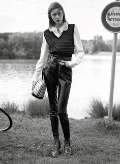 Un Homme de Notre Temps | Vogue Paris September 2014 | Rianne Van Rompaey, Ine Neefs and Natalie Westling by Karim Sadli