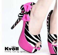 Zebra mark bowtie platform inside super high heel fish-mouth pumps lady's pump peep toe sandals brand shoes D61791   $38.00