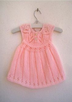 Ravelry: Polly Dress pattern by Suzie Sparkles for baby to 6 year old girl. Lace Patterns, Baby Knitting Patterns, Clothing Patterns, Dress Patterns, Coat Patterns, Sewing Patterns, Knit Baby Dress, Baby Cardigan, Dress Gloves